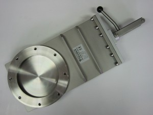 HV gate valve, manually operated with FPM shaft seal